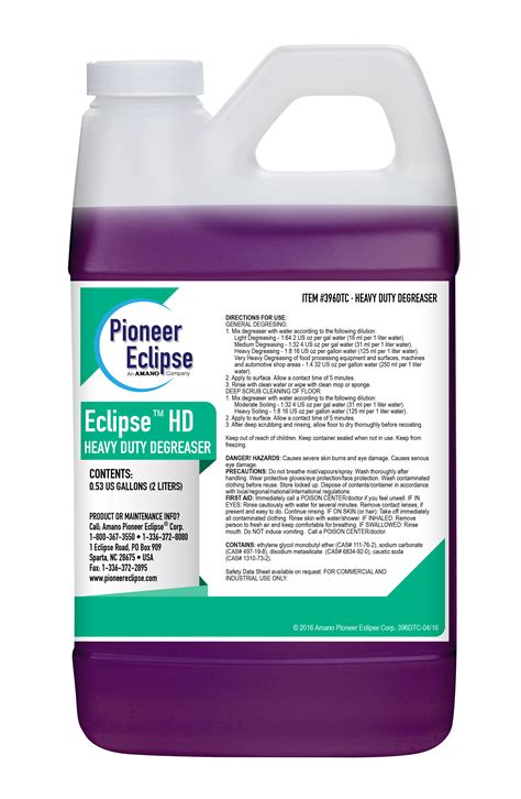 Eclipse Heavy Duty Degreaser   Pioneer Eclipse