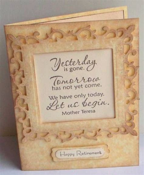 Handmade Farewell Cards For Seniors - teresa retirement and retirement cards on
