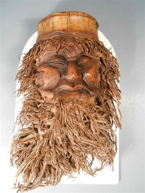 bamboo root carving china chinese bamboo root face