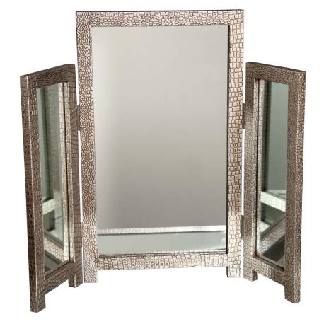 Silver Vanity Table With Mirror And Bench Mirror Moc Croc Silver Dressing Table Mirror