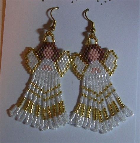 patterns christmas jewelry angel earring brick stitch holiday ideas for jewelry