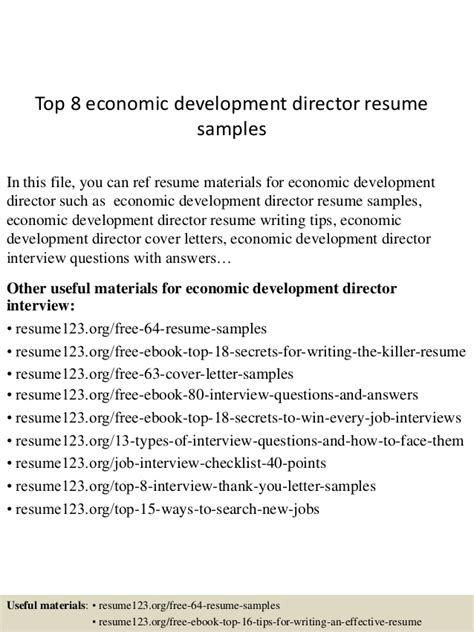 And Economics Motivation Letter Top 8 Economic Development Director Resume Sles