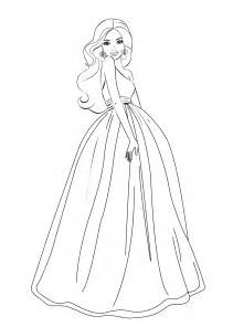 cartoon barbie coloring page coloring home