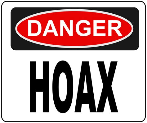 And In Hoax News by Clipart Danger Hoax Sign