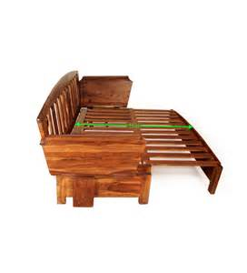 Wooden Sofa Beds Cinnamon Wooden Sofa Bed By Mudramark Sofa Beds Furniture Pepperfry Product