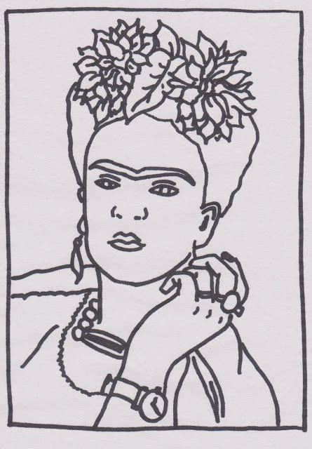 frida kahlo colouring books frida kahlo colorear embroidery art embroidery and art lessons