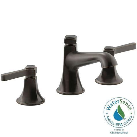 Rubbed Bathroom Faucets by Kohler Devonshire 8 In Widespread 2 Handle Bathroom
