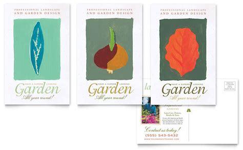 garden landscape design postcard template design