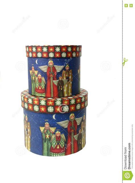 decorative christmas book boxes decorative christmas boxes over white stock image image