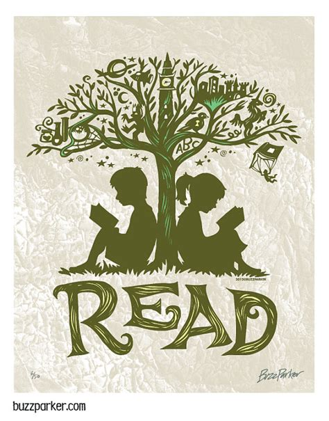 the sapling books reading tree 8x10 print every book an adventure