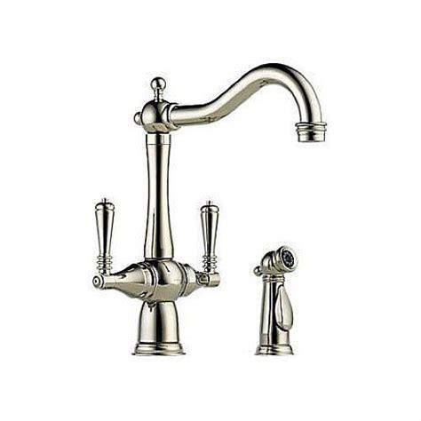 two hole kitchen faucet brizo 62136lf pn tresa two handle single hole kitchen