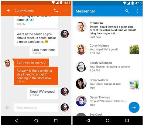 message apps for android top 13 des meilleures applications sms pour appareils