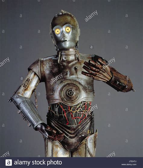 anthony daniels attack of the clones star wars episode ii attack of the clones stock photos