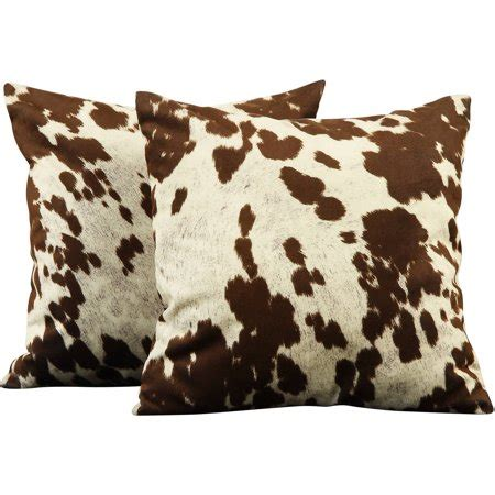 Cowhide Pillow - chelsea maxfield 18 quot square brown cowhide print throw