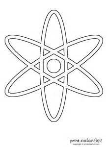atom color atom coloring page print color