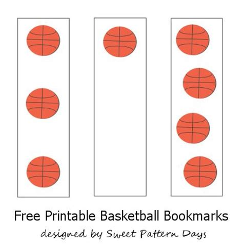 printable baseball bookmarks basketball bookmarks printable stationery printables