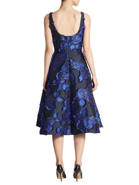 Brocade Flower Dress Mini Dress lyst floral brocade dress in black