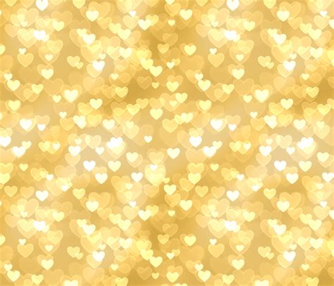 gold heart pattern gold and silver theme heart bokeh pattern 4 raccoongirl