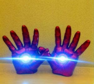 avengers iron man gauntlet glove led light left