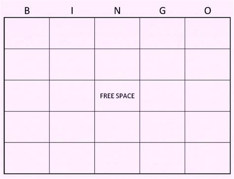 4x4 Bingo Template by Comfortable Custom Bingo Template Gallery Documentation