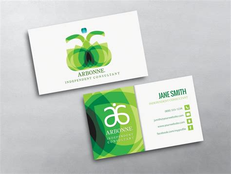 free arbonne business card template arbonne business card 06