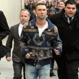 adam levine flour bombed outside jimmy kimmel live or maroon 5 pictures with high quality photos