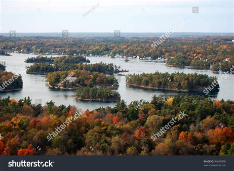 1000 island skydeck view canada thousand islands aerial view in fall from sky deck on