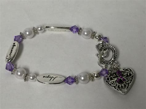 strength courage epilepsy awareness bracelet