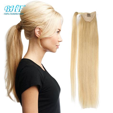 real ponytail hair extensions real hair blond ponytail human hair ponytail wrap around