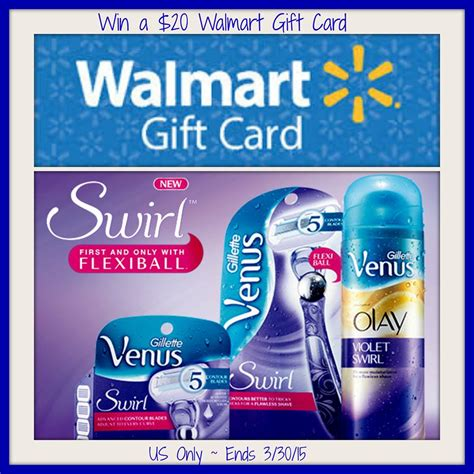 Walmart Photo Gift Card - win a walmart gift card to try new venus swirl line of shaving products