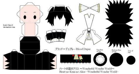 Papercraft Black And White - hnkna papercraft blood by larry san on deviantart