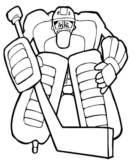 hockey goalie coloring page printable coloring pages