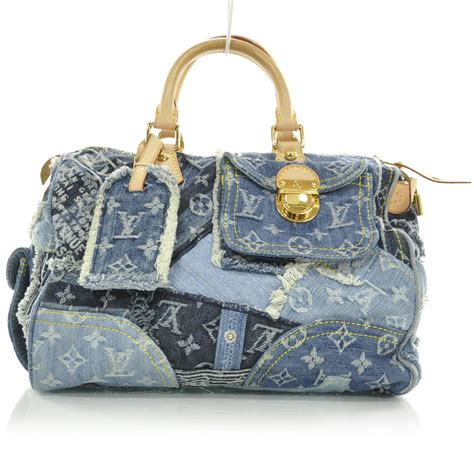 Louis Vuitton Patchwork - louis vuitton denim patchwork speedy 30 blue le 26786