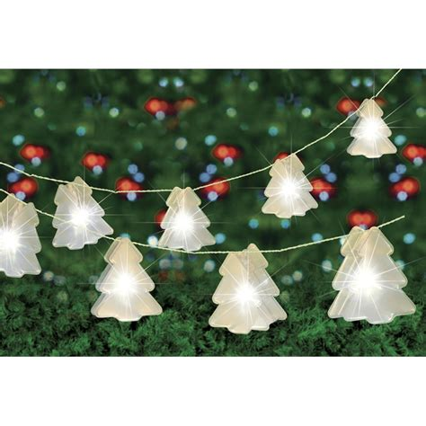 arlec 10 led festive decor battery operated tree hologram