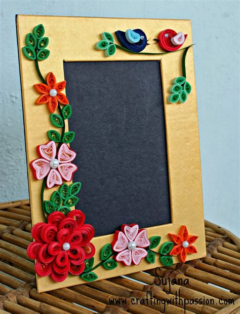 quilling design frame crafting with passion my first quilled photo frame
