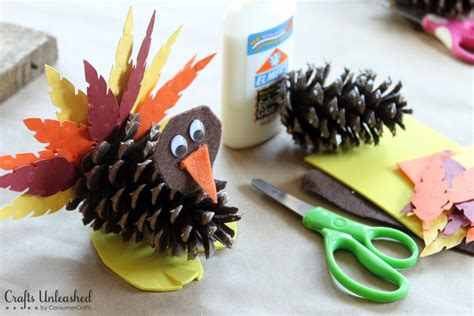 pinecone crafts for turkey craft for pine cone turkeys crafts unleashed