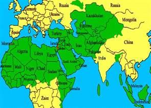 Islamic World Map by Jewish Muslim World Map Sharia Unveiled