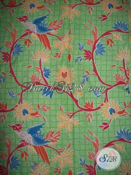 Kain Bahan Batik Printing Katun Murah Bagus Asli Pekalongan bahan batik motif terbaru warna hijau kain batik cantik