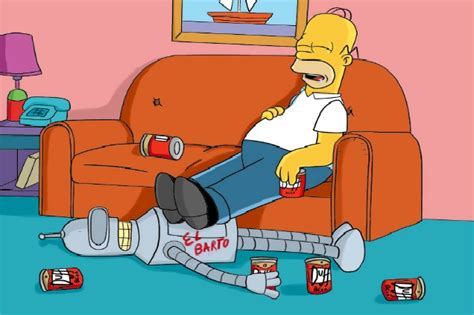 homer divano arriva simpsorama la clip divano con homer e bender
