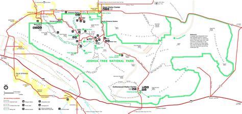 joshua tree park map joshua tree national park tourist map