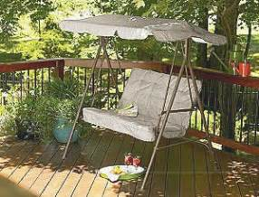 Patio Swing At Kroger Kmart Garden Oasis 2 Seat Swing Only 17 Shipped