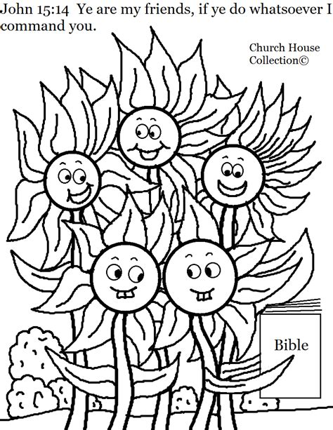 christian coloring pages for summer church house collection blog flower family john 15 14