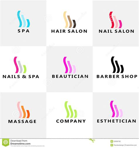 Hair Manicure Di Salon nails salon logo vector cartoondealer 43152469