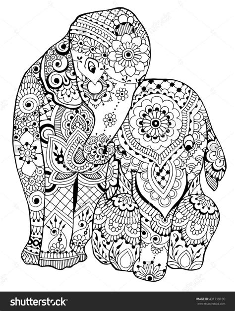 elephants coloring page   shutterstock adult