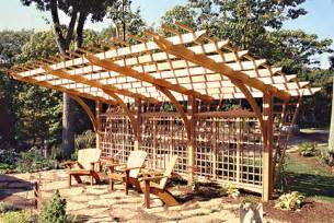 Curved Pergola Kits by Cantilevered Pergola No Ctp10 By Trellis Structures