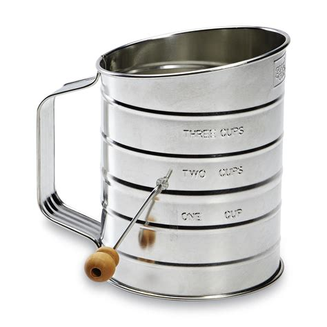 Flour Sifter essential home 3 cup flour sifter