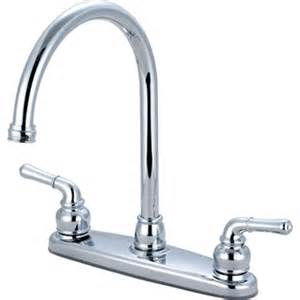 chrome two handle gooseneck kitchen faucet az partsmaster