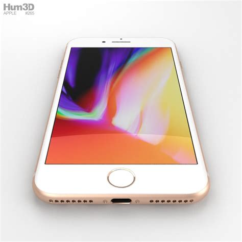 apple iphone 8 plus gold 3d model hum3d