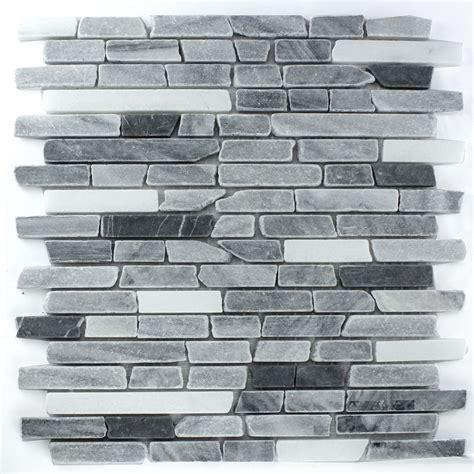stab mosaik fliesen marmor mosaik fliesen schwarz grau mix lz69155m