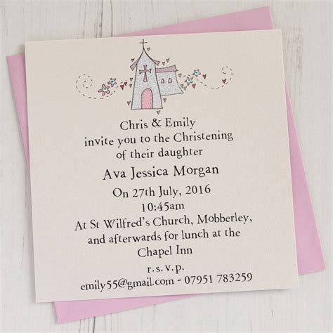 Baptism Invitations by Personalised Christening Invitation Pack By Eggbert